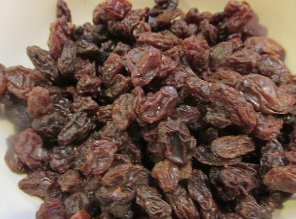 Add Raisins to a small bowl.