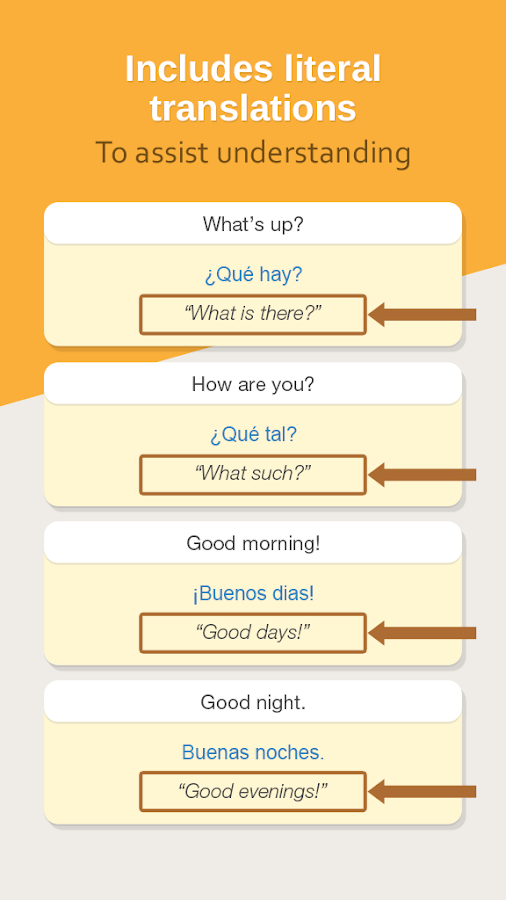 Spanish Phrasebook Learn Free- screenshot