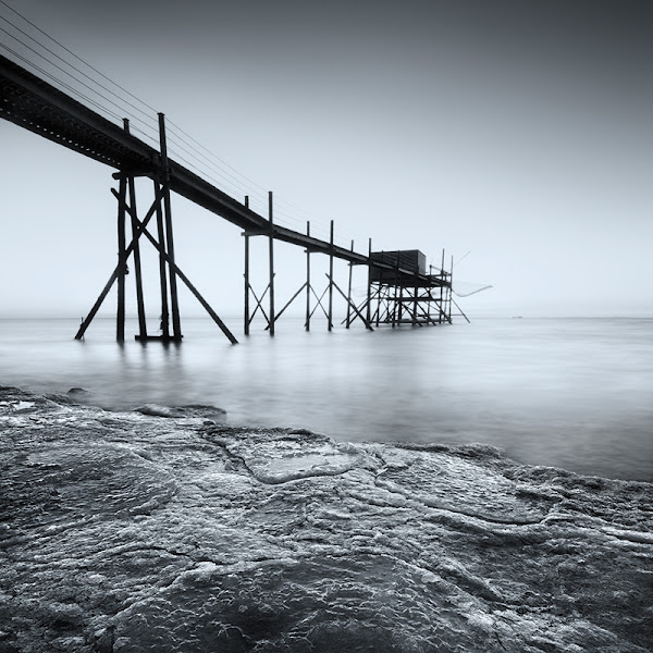 Photo: Hello G+ friends, the very cold weather last week in France brings back some ice to the Esnandes beach! A great opportunity to try my new lens - the Tokina 11-16 f2.8 :-) Since I don't have any filters for this lens yet, I had to wait for the night to make a little long exposure, hope you like it! :-)