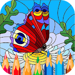 Mindfulness : Adult Mandala Relaxing Coloring Book Icon