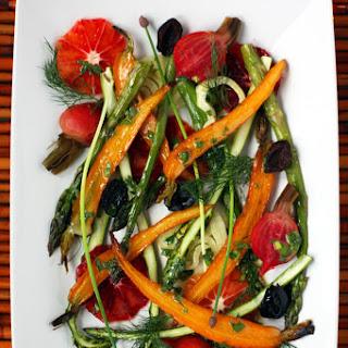 Bright Healthy Roast Vegetable and Blood Orange Salad