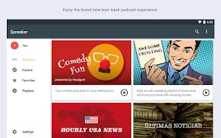 Screenshot of Spreaker Podcast Radio