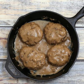 Baked Hamburger Steaks With Gravy