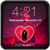 Valentine Neon Lock Screen