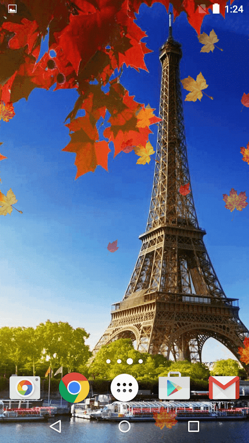 Falling Leaves Live Wallpaper For Android Autumn In Paris Live Wallpaper Android Apps On Google Play