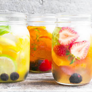 Cold Brewed Iced Tea with Fruit.