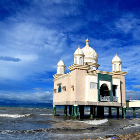 Mosque by Bastian AS - Buildings & Architecture Places of Worship ( indonesia, mosque, palu, color, colors, landscape, portrait, object, filter forge )
