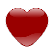 Crystal Heart - Red : Icon Mask for Nova Launcher icon