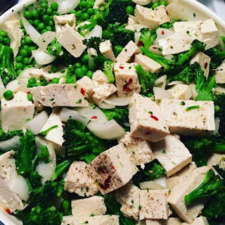 Easy,Healthy Tofu lunch or dinner.
