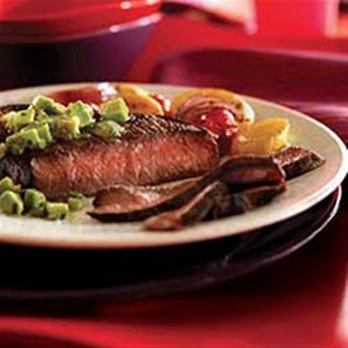 Cumin-Rubbed Steaks with Avocado Salsa Verde