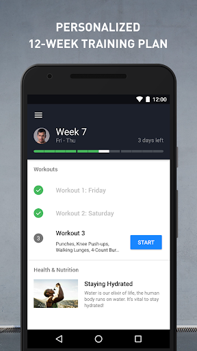 Runtastic Results Home Workouts & Personal Trainer Screenshot