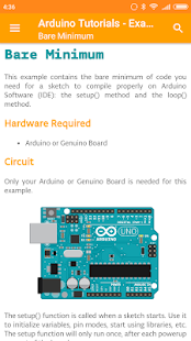 Arduino Tutorials - Examples Screenshot