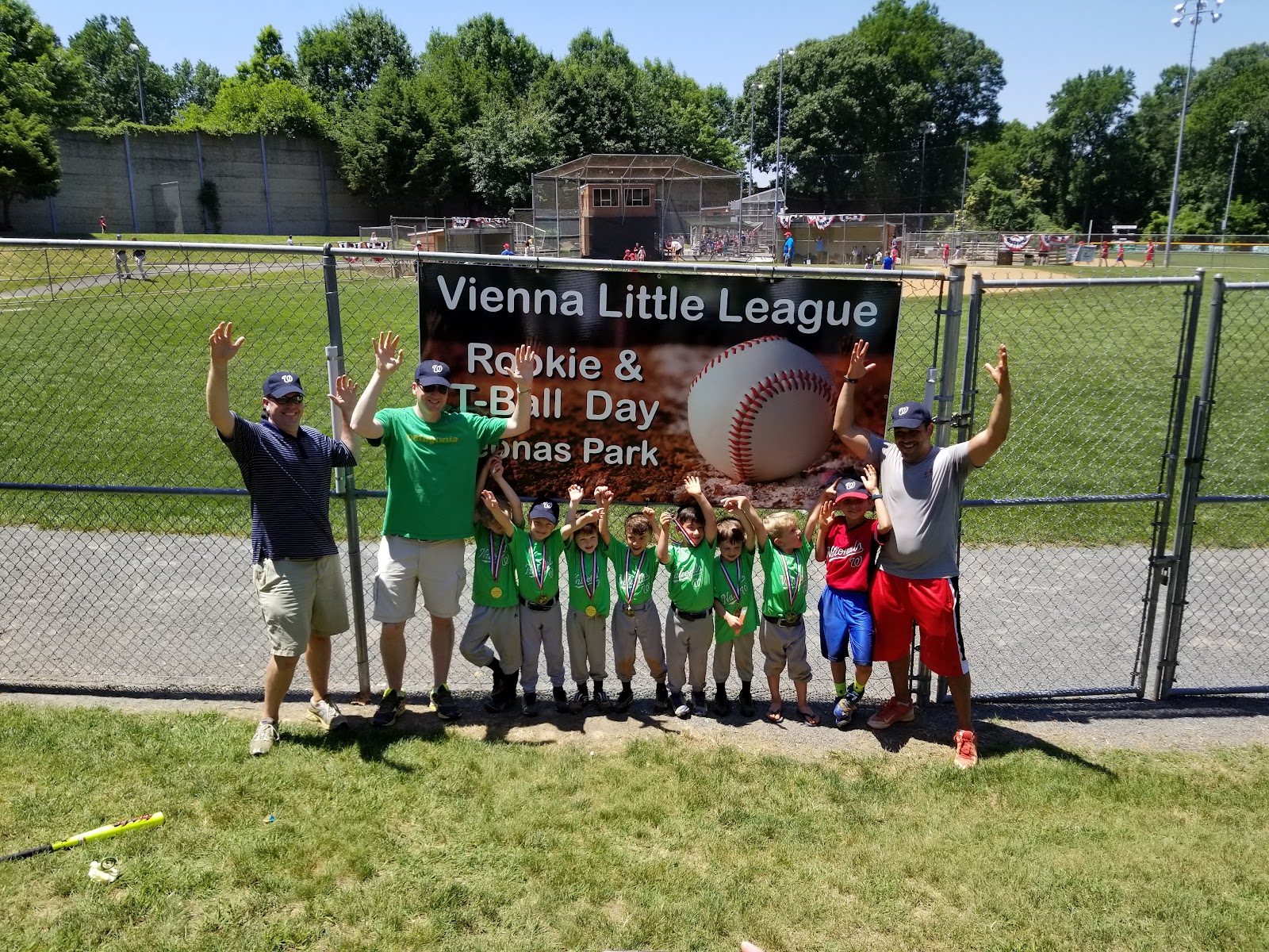 Vienna Little League Rookie and Tee Ball Day at Yeonas Park