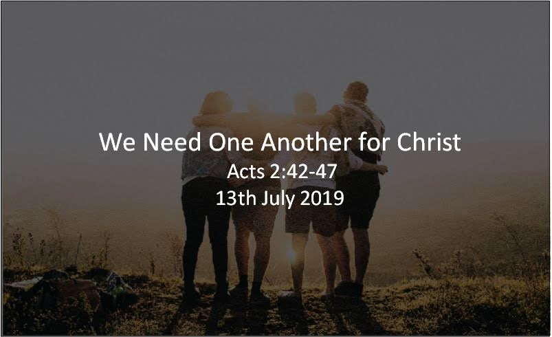 We Need One Another for Christ