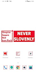 Square Red Icon Pack Oneplus Style APK screenshot thumbnail 2