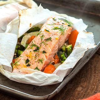 Orange-Basil Salmon Packets