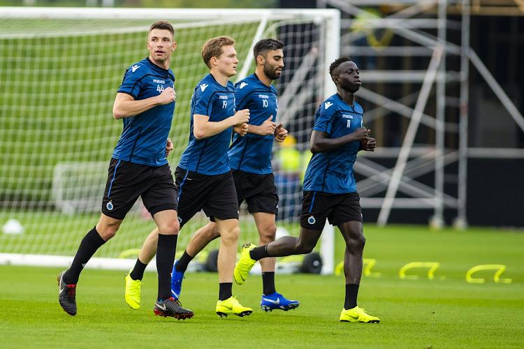 Deux joueurs du Club de Bruges poussés vers la sortie