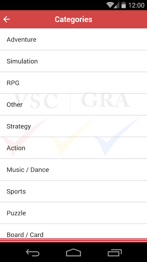 VSC Rating Board: Games Search- screenshot