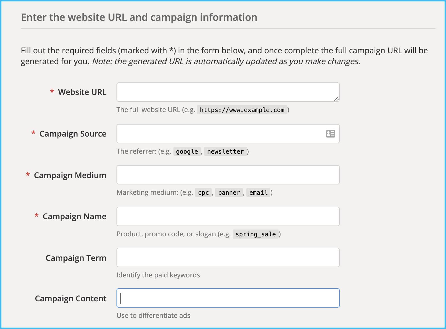 add utm tracking url