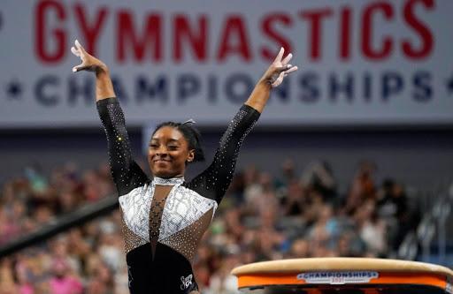 Simone Biles Wins Record Seventh National Women's All-Around Title