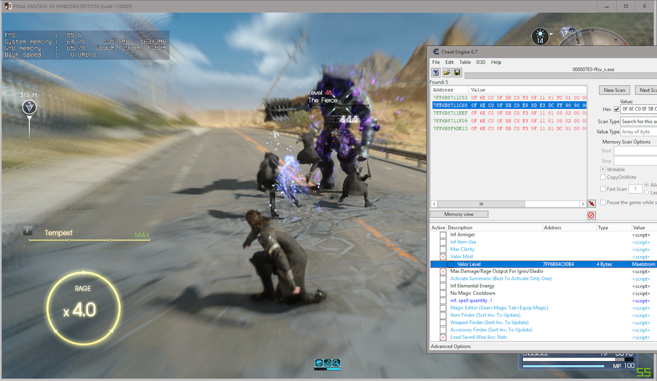 Final Fantasy XV (CODEX) - Page 2 - FearLess Cheat Engine