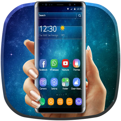 Galaxy Blue Star Universe Edge Theme Icon