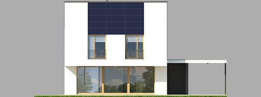 EX 12 z wiatą Energo Plus - Elewacja tylna