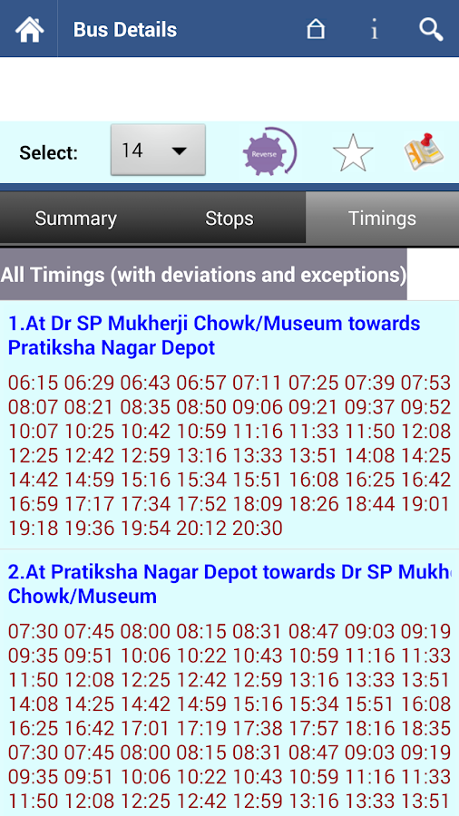 Mumbai BEST Info - screenshot