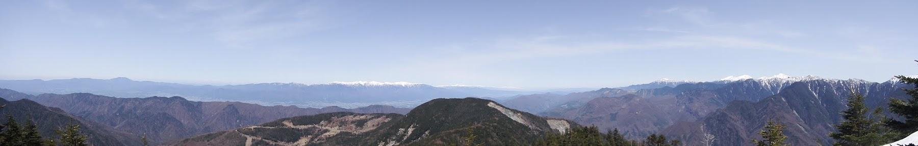 奥茶臼山からパノラマ