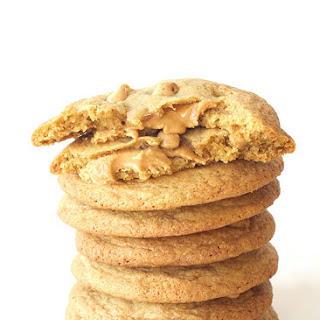 Giant Peanut Butter Stuffed Cookies.