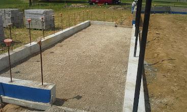 Photo: 1st Base Dugout ready for concrete slab 08-05-2014
