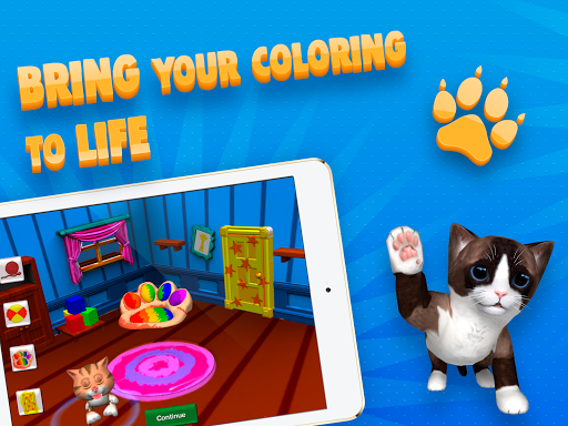 Paint My Cat: 3D Coloring Sandbox screenshot 2