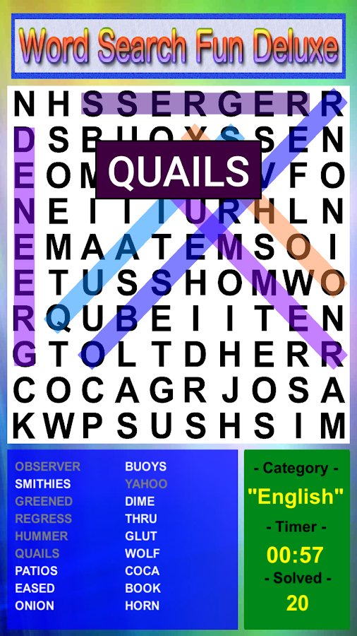 Word Search Fun Deluxe- screenshot