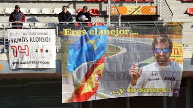 Photo: Fernando Alonso fans