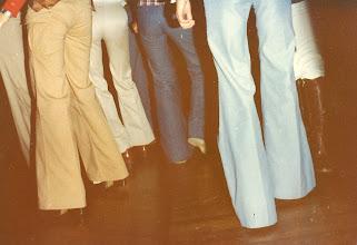 Photo: Acutal 1970's dancefloor trousers shot! Taken from the DJ booth @ The Scene, Peninsula Hotel, HK 1977.