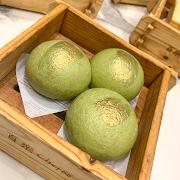 51A. Golden Matcha Molten Yolk Bun 黃金綠茶流沙包