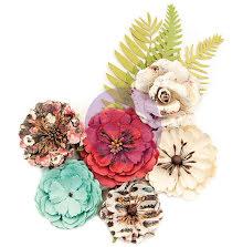 Prima Midnight Garden Mulberry Paper Flowers 9/Pkg - Light &  UTGÅENDE