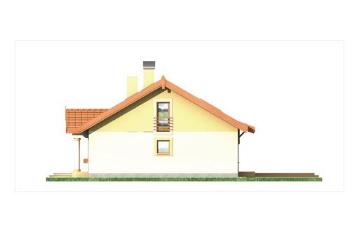 Sielanka II 35st. wersja A bez garażu z piwnicą - Elewacja prawa