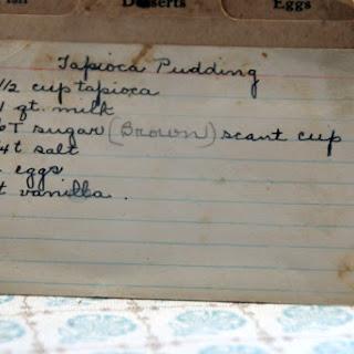 Tapioca Pudding