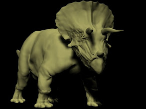 Photo: Triceratops 3D model (just the model + lighting, no texture map): modeled in 3ds Max