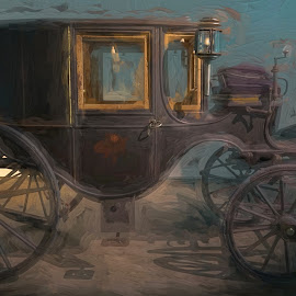 Where's the Horse by William Kauffman - Digital Art Things ( carriage, antique, photoshop, buggy, transportaion )