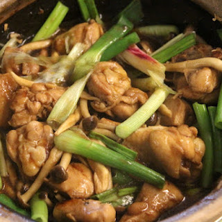 Chicken Fried in Oyster Sauce & Spring Onions