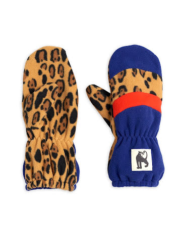 Mini Rodini Block Stripe Fleece Mittens