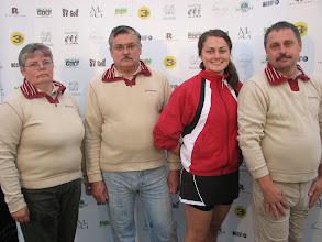 Photo: Coaches Latvia. Inese Kupce, Aivars Kupcis, Liga Kupce and Verners Kirss. Photo: Bengt Svensson