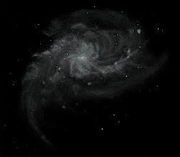 Photo: M33, au T406 au col du Restefond, août 2016. Grossissements 88X et 220X. 4 ou 5 heures d'observation/croquis, sur deux nuits.