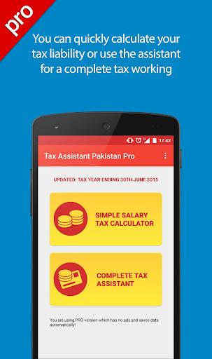 Tax Assistant Pakistan Pro