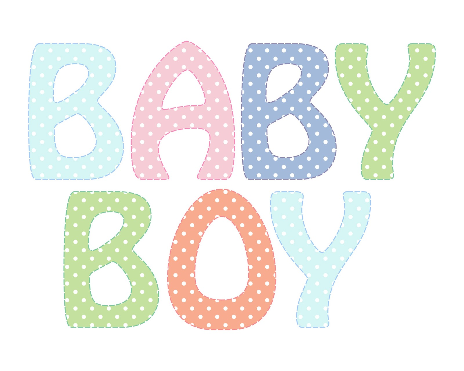 Baby Boy Text Clipart