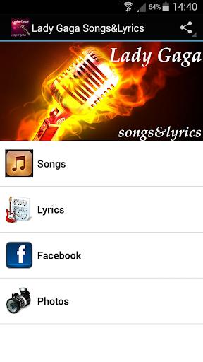 Lady Gaga Songs Lyrics