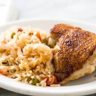Slow Cooker Chicken Rice Casserole.