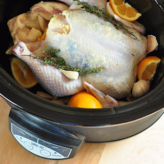 Whole Citrus-Braised Chicken in the Slow Cooker.